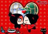 Pucca besa a Garu