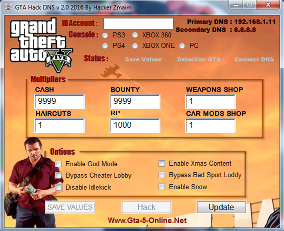 gta v update unlimited money trainer