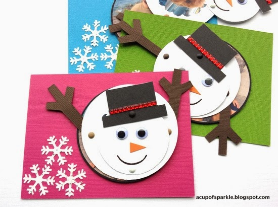 a cup of sparkle handmade snowman new year cards tutorial