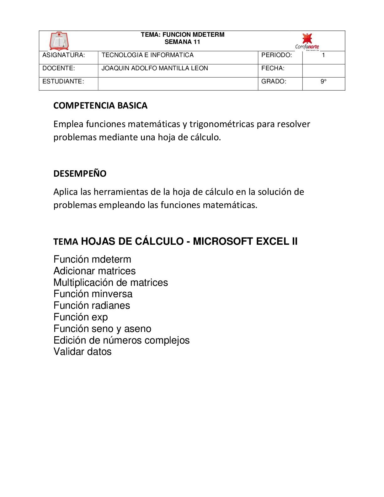 Lujo Hojas De Cálculo De TrigonometrÃa Grado 11 Composición - hojas ...