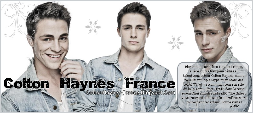 Colton Haynes France / #1 French Source About Colton Haynes