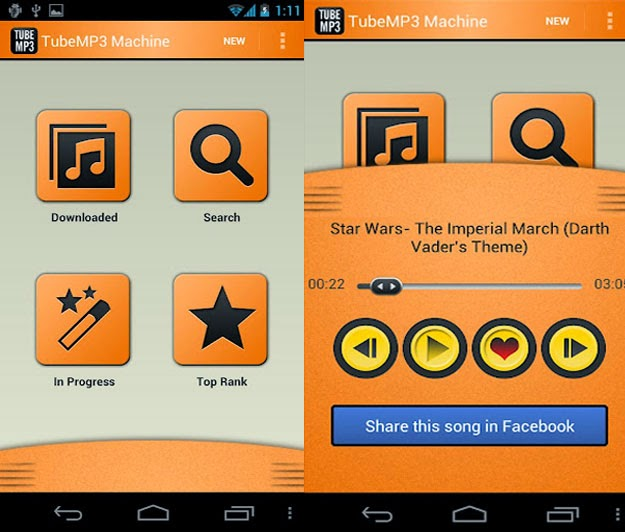 tubemp3 machine android
