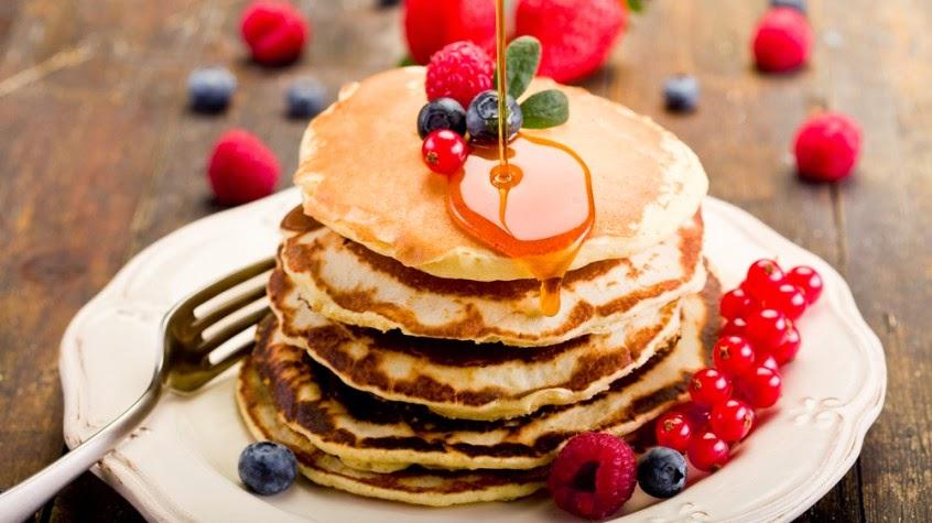 pancakes,kue muffin,kue manis,sarapan pagi