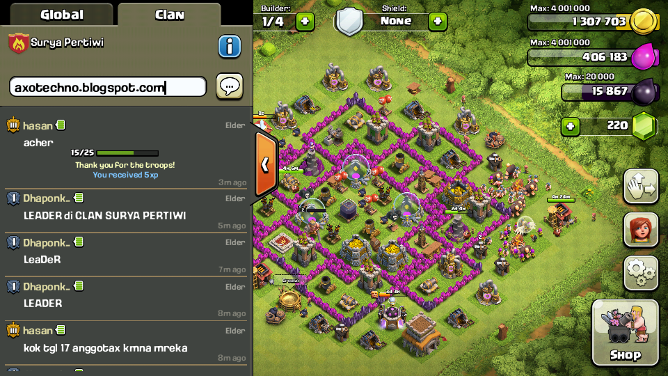 Cara Membuat Home Base Town Hall Level 8 Anti Dragon dan Hog Rider