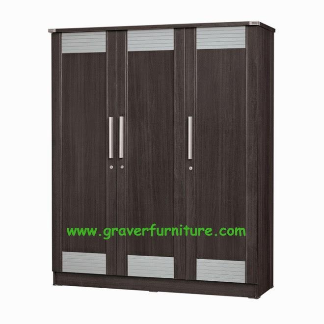 Lemari Pakaian 3 Pintu LP 2897 Graver Furniture