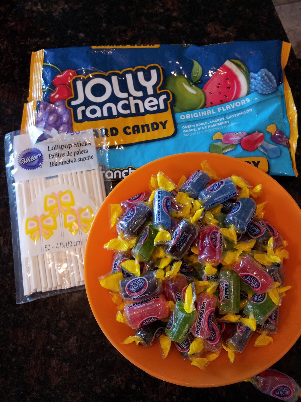 how to make lollipops out of jolly ranchers