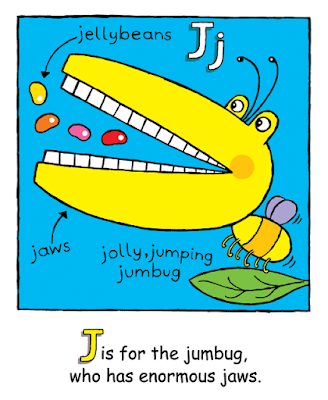 Picture of Jolly Jumping Jumbug from Silly Monsters ABC, a children's kindle picture ebook