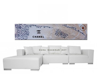 "Abstract Painting ""Love for Fasion - Chanel"" by Dora Woodrum"