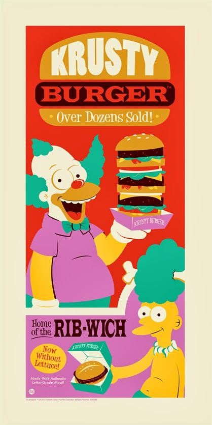 """Krusty Burger"" The Simpsons Screen Print by Dave Perillo"