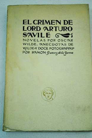 El crimen de Lord Arthur Saville de Oscar Wilde