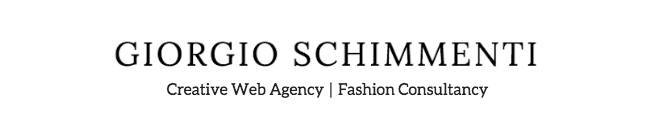 Giorgio Schimmenti - Creative Fashion Agency