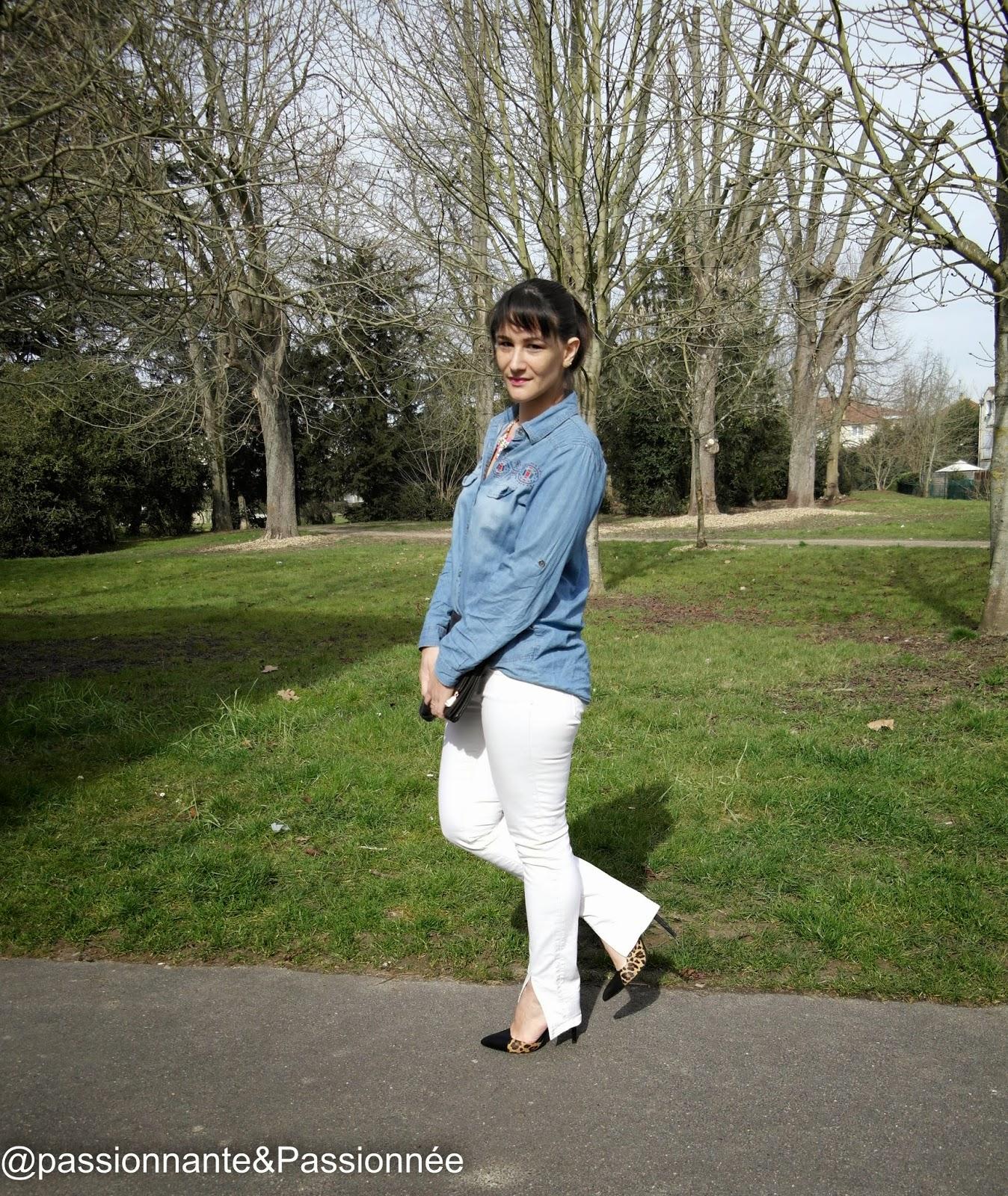 Jean blanc pimkie