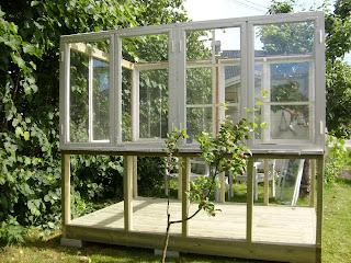 Bygge drivhus av gamle vinduer