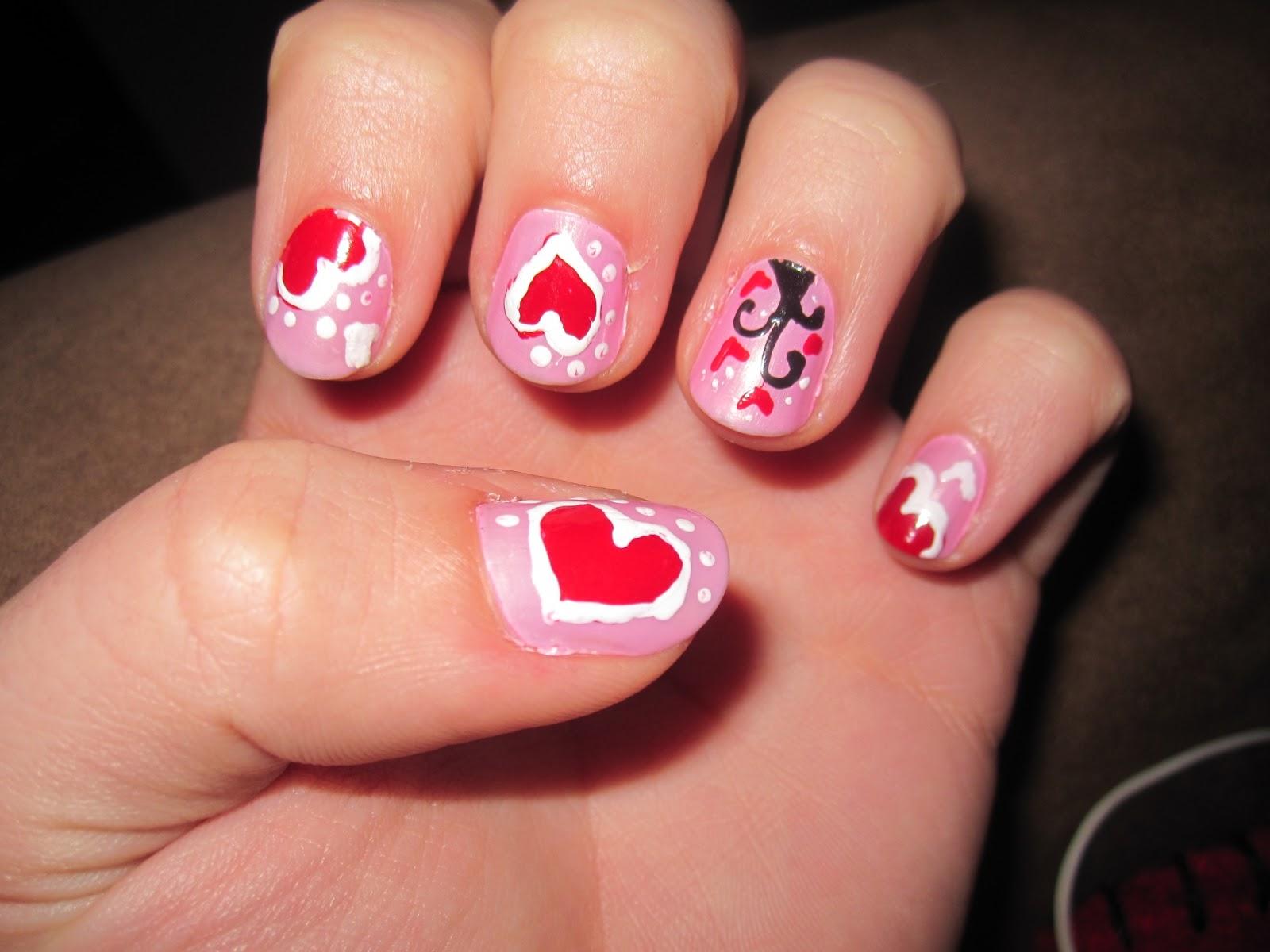Cute nail polish designs for short nails 30 beautiful short nail art ideas ink your nail cute nail polish designs for short prinsesfo Images