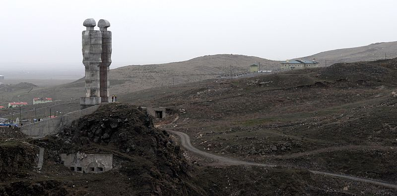Kars Turkey  City new picture : ... Armenia Turkish friendship monument Mehmet Aksoy Kars Turkey
