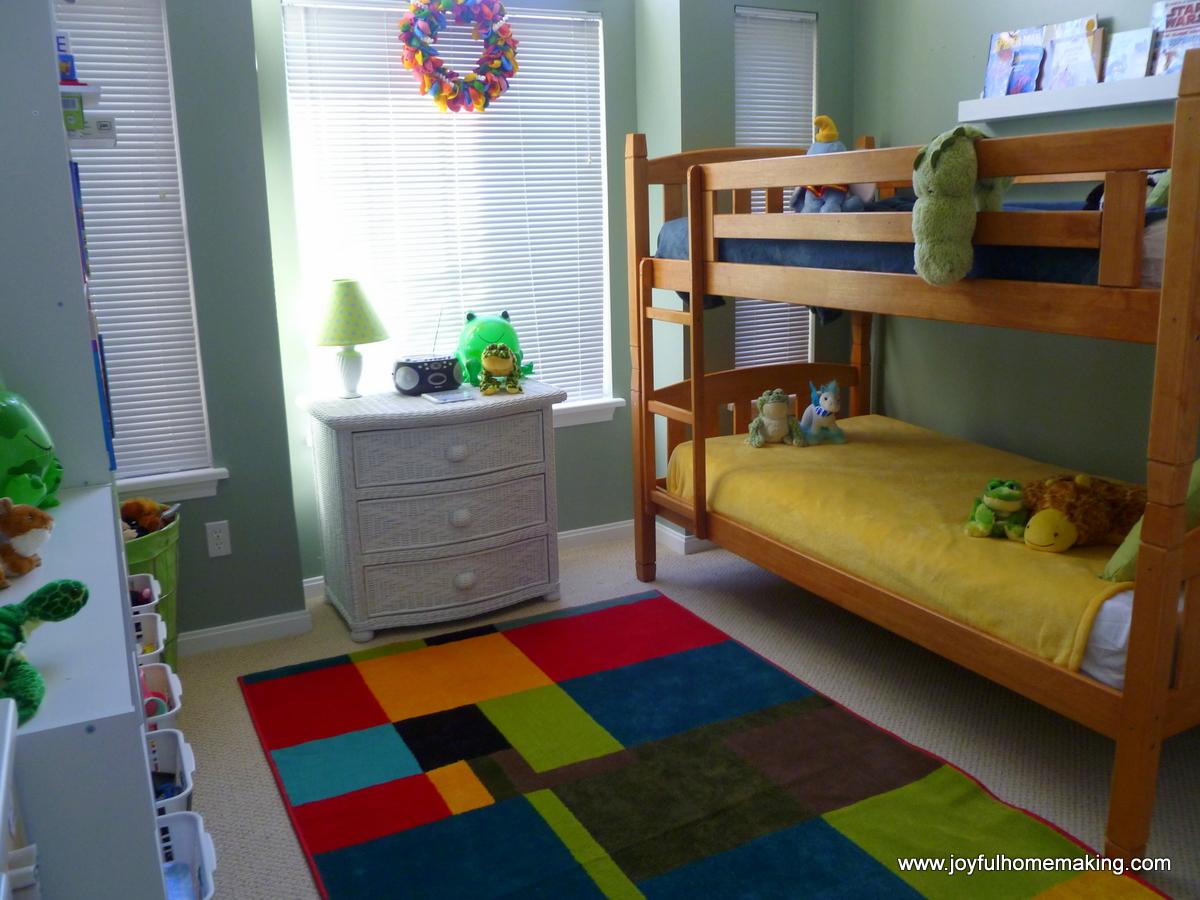 shared room for a boy and girl joyful homemaking. Black Bedroom Furniture Sets. Home Design Ideas
