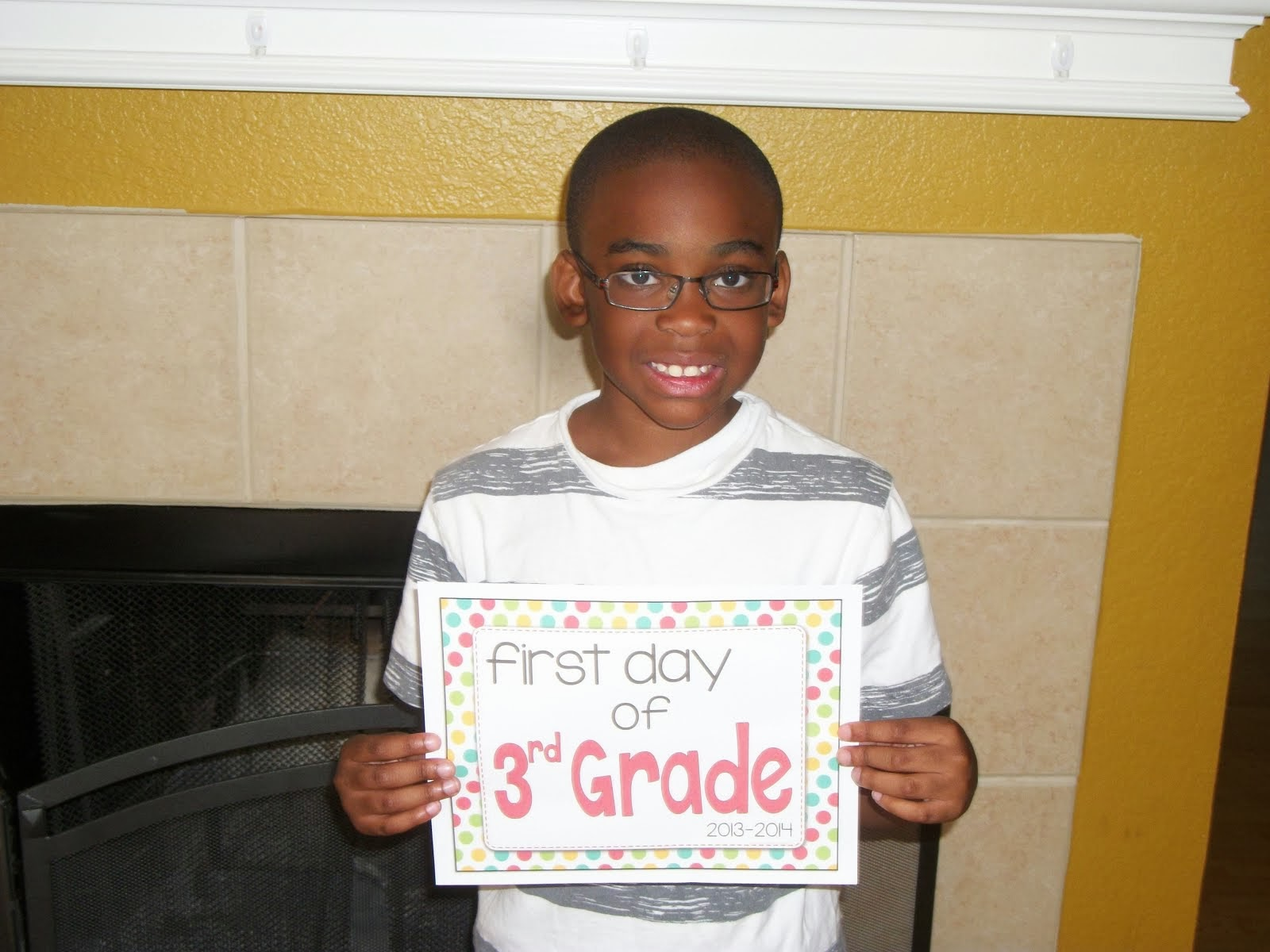 First Day of Third Grade 2013-2014