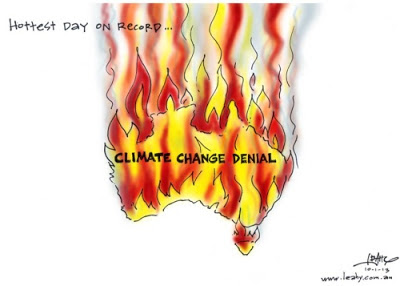 Australia's hottest day on record, fire of climate change denial
