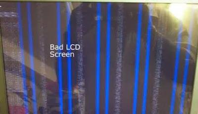 Las líneas verticales en esta imagen son una señal de desperfecto en el display o pantalla LCD