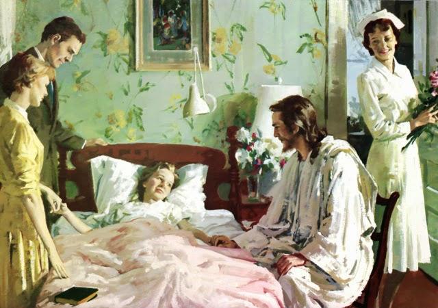 Jesus visitando os doentes