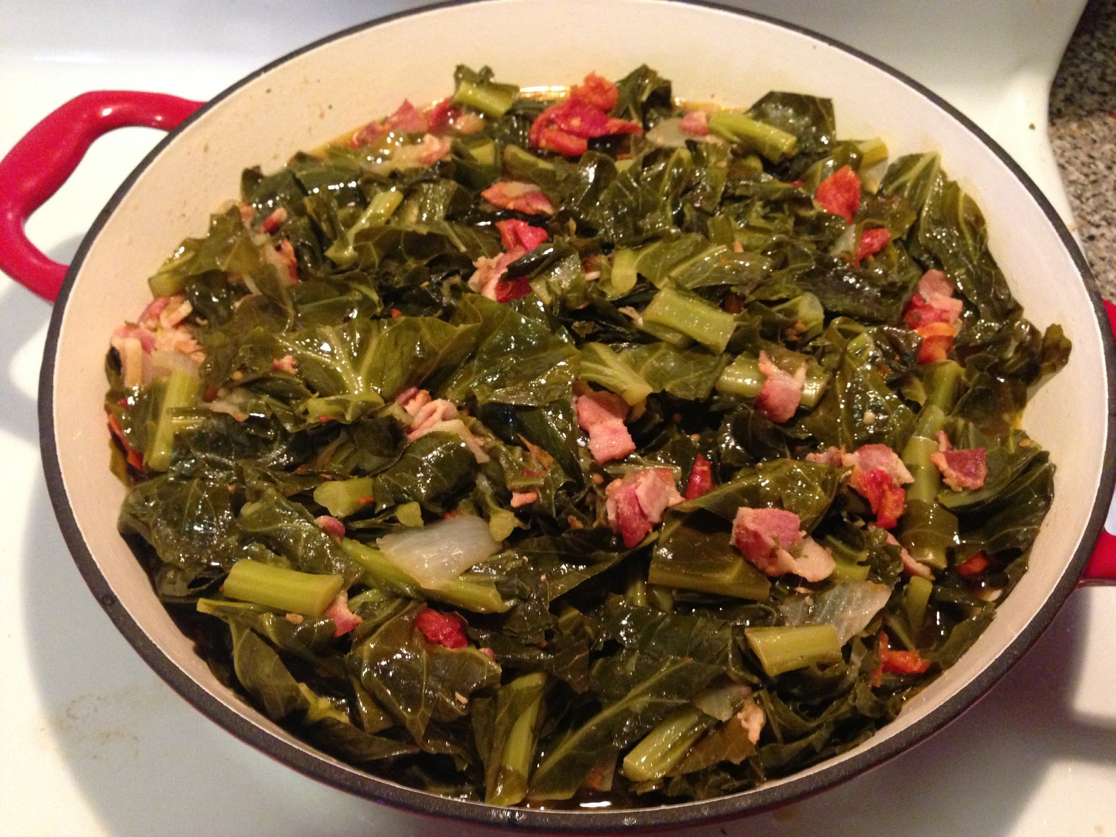 Cooking with Joey: Bacon Collard Greens