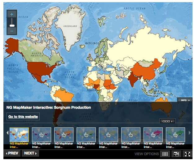 Free technology for teachers a map of staple food crops of the world mapmaker interactive is a good tool to use to introduce concepts of map creation to elementary school and middle school students gumiabroncs Gallery