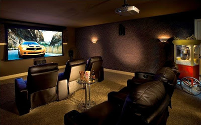 Home Design on Awesome Interior Picture Design  Home Theatre Room Design