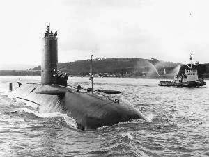 Submarino HMS Conqueror - Gran Bretaña