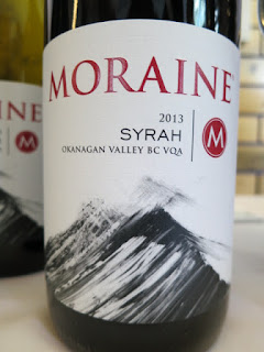 Moraine Syrah 2013 from BC VQA Okanagan Valley, British Columbia, Canada (89 pts)
