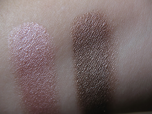 Swatch - Maybelline Color Tattoo 24Hr Pink Gold and On and On Bronze