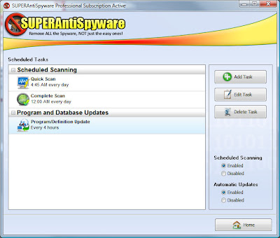 SuperAntiSpyware Free and Professional 5.6 - Scheduled Scanning