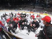 The Hockey Canada U20 World Junior Championship summer development camp is 2 . (canada practice wjc)