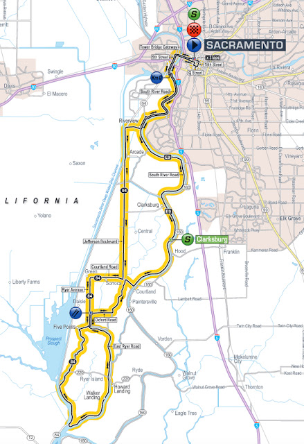 Stage 8 map of Tour of California 2016
