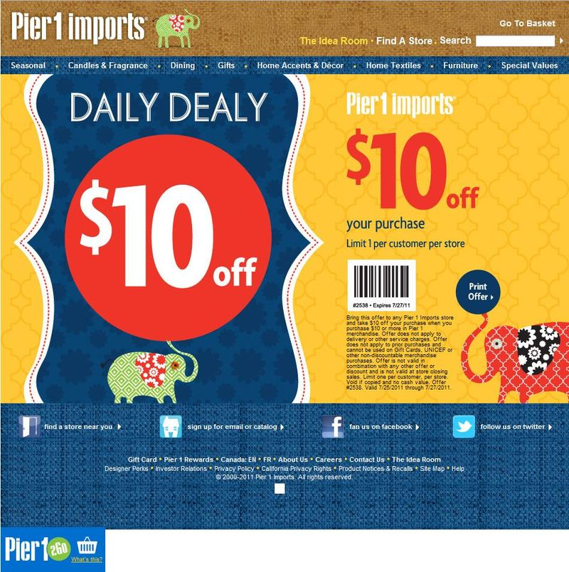 Pier i coupons