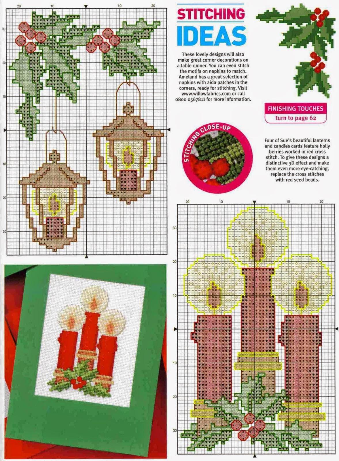 Новогодняя вышивка крестом открытки схемы