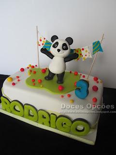 bolo aniversário panda doces opçoes susana bragança