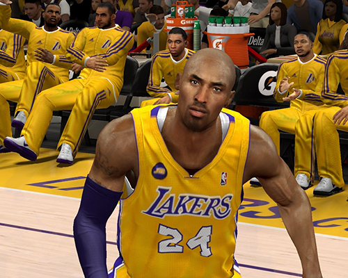 Description: Another great revision of Kobe Bryant's cyberface for NBA