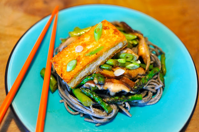 Salmon miso soup with soba noodles - Cook and Post