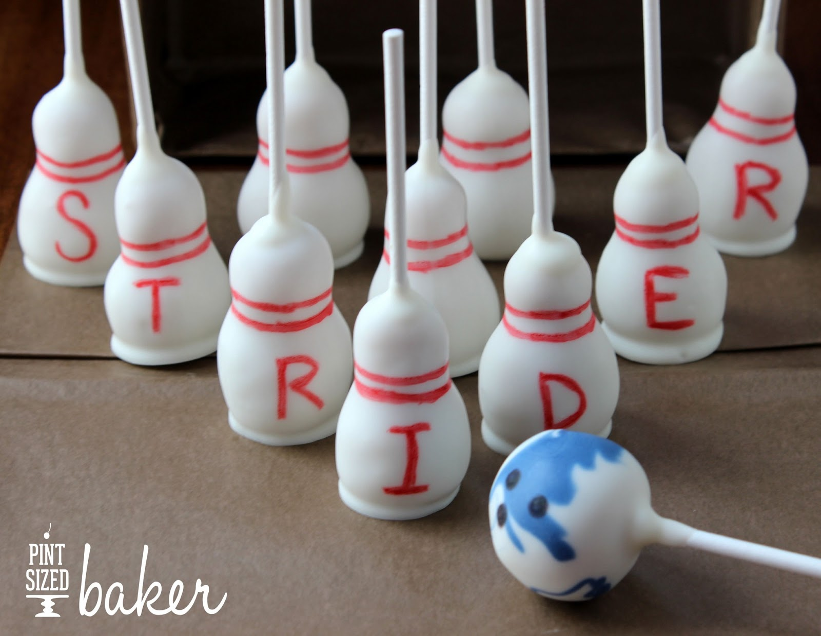 bowling party cake pops pint sized baker