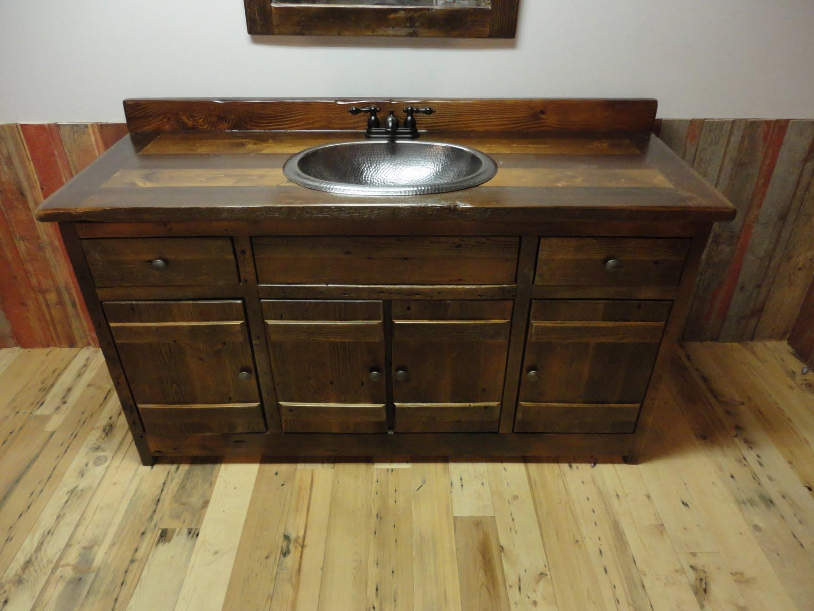 Omega Cabinet Company Prairie Barnwood Bathroom Vanity .