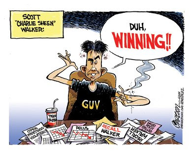 Walker as Charlie Sheen - 'Winning!'