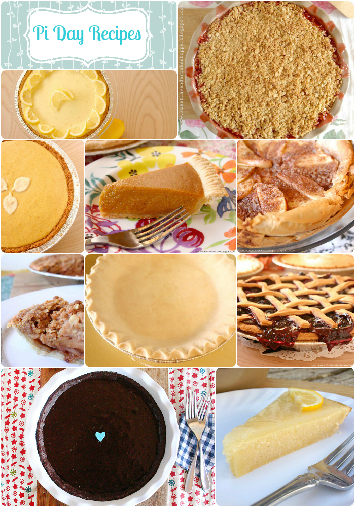 Sweet Lavender Bake Shoppe: |happy pi day| pie recipe roundup...