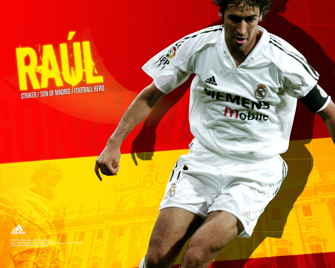 Raul Gonzales Real Madrid Player Wallpaper