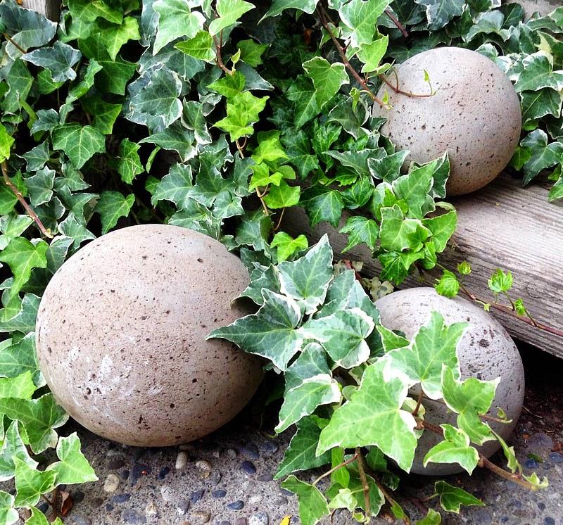 DIY, Esferas de Cemento, Decoracion de Jardin