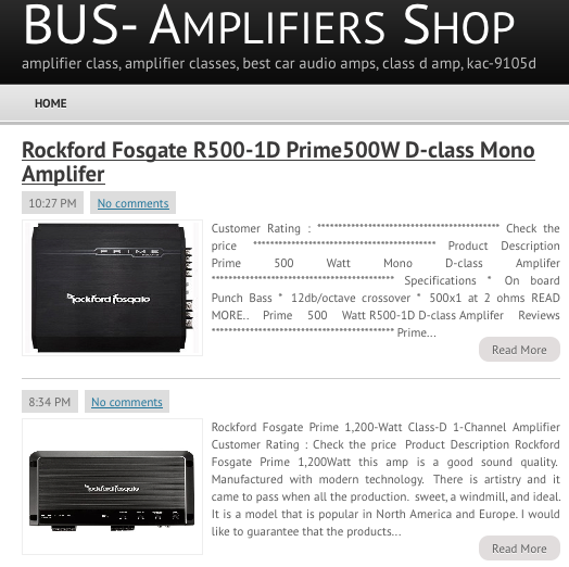 Car Audio-Amplifiers Shop