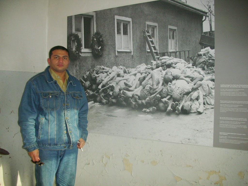 صورة لأموات في معتقلات هتلر قبل حرقهم