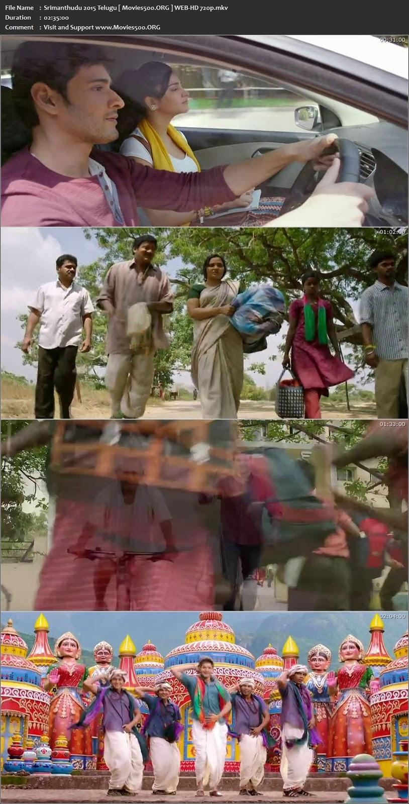 Srimanthudu 2015 Telugu Full Movie WEB HD 720p at xcharge.net