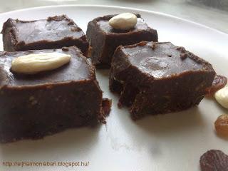 cukormentes, csokoládé, karob, mandula, datolya