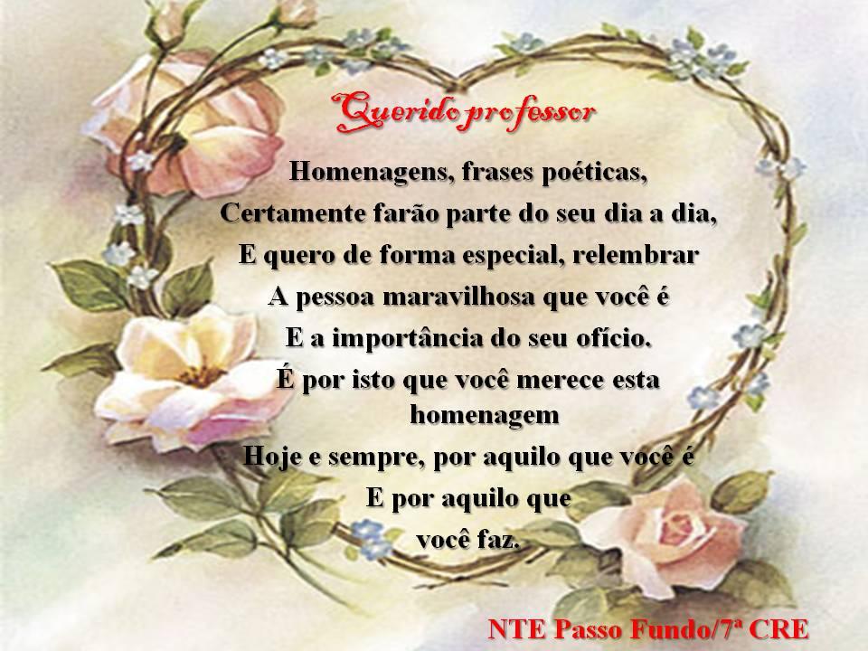 Excepcional NTE PASSO FUNDO - RS: Mensagem aos Professores AR84