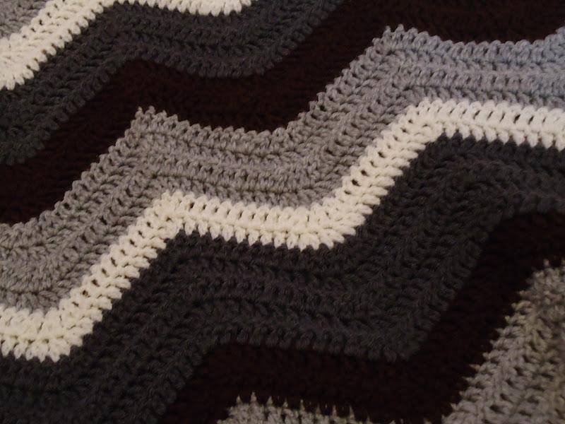 Cobblestones Ivy Chevron Pattern Crocheted Blanket